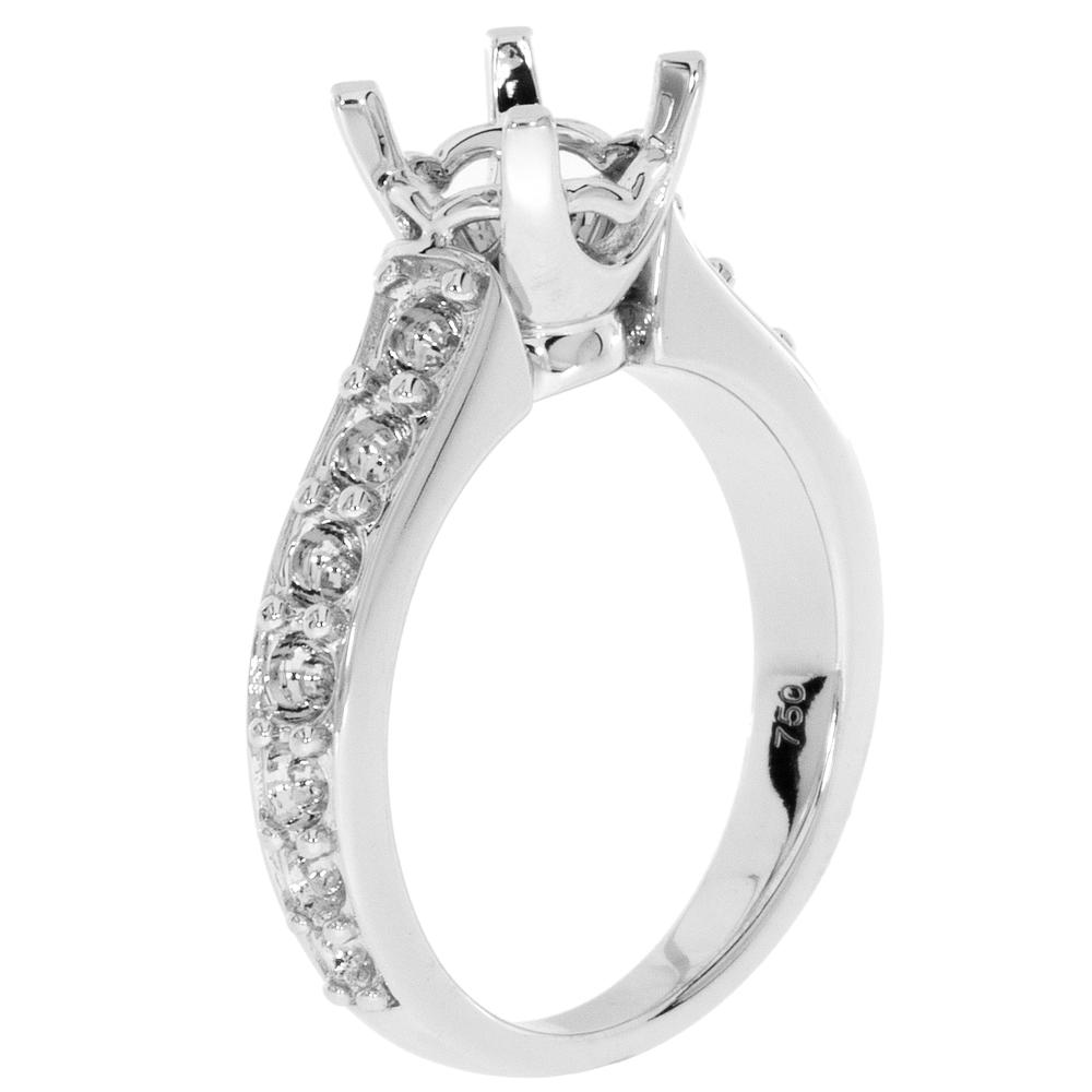 View U-PRONG GRADUATED PAVE ENGAGEMENT RING