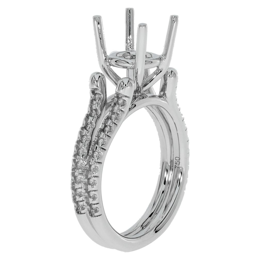 View FOUR PRONG ROUND SPLIT SHANK RING
