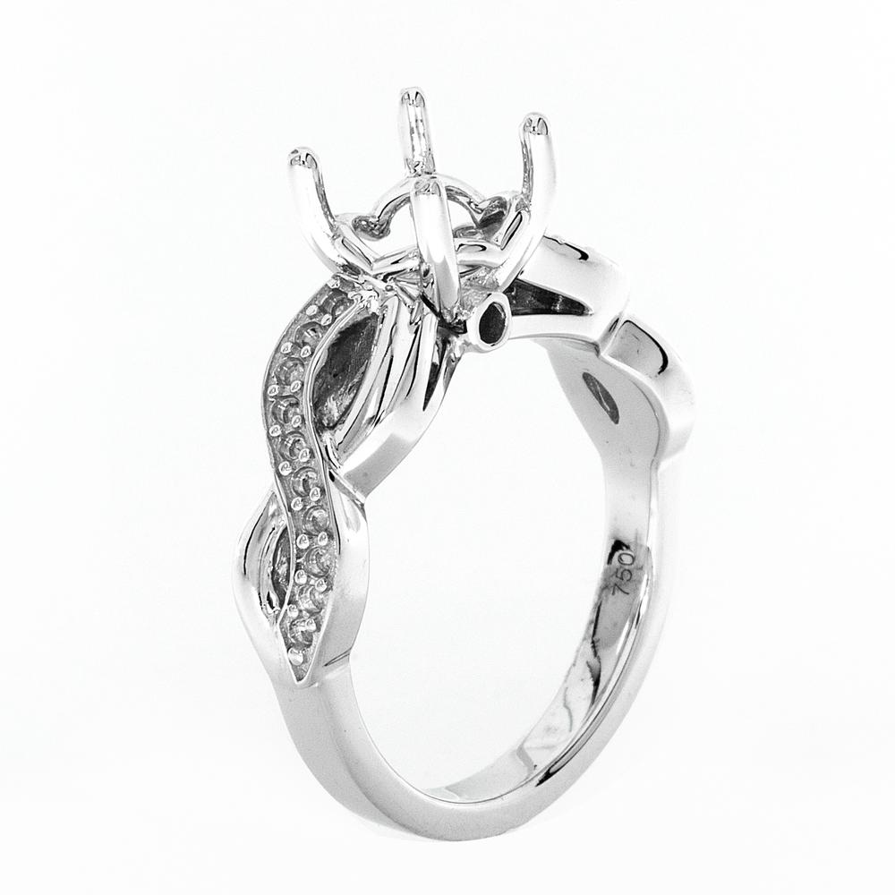 View FOUR PRONG CROSS OVER SOLITAIRE WITH SURPRISE DIAMOND