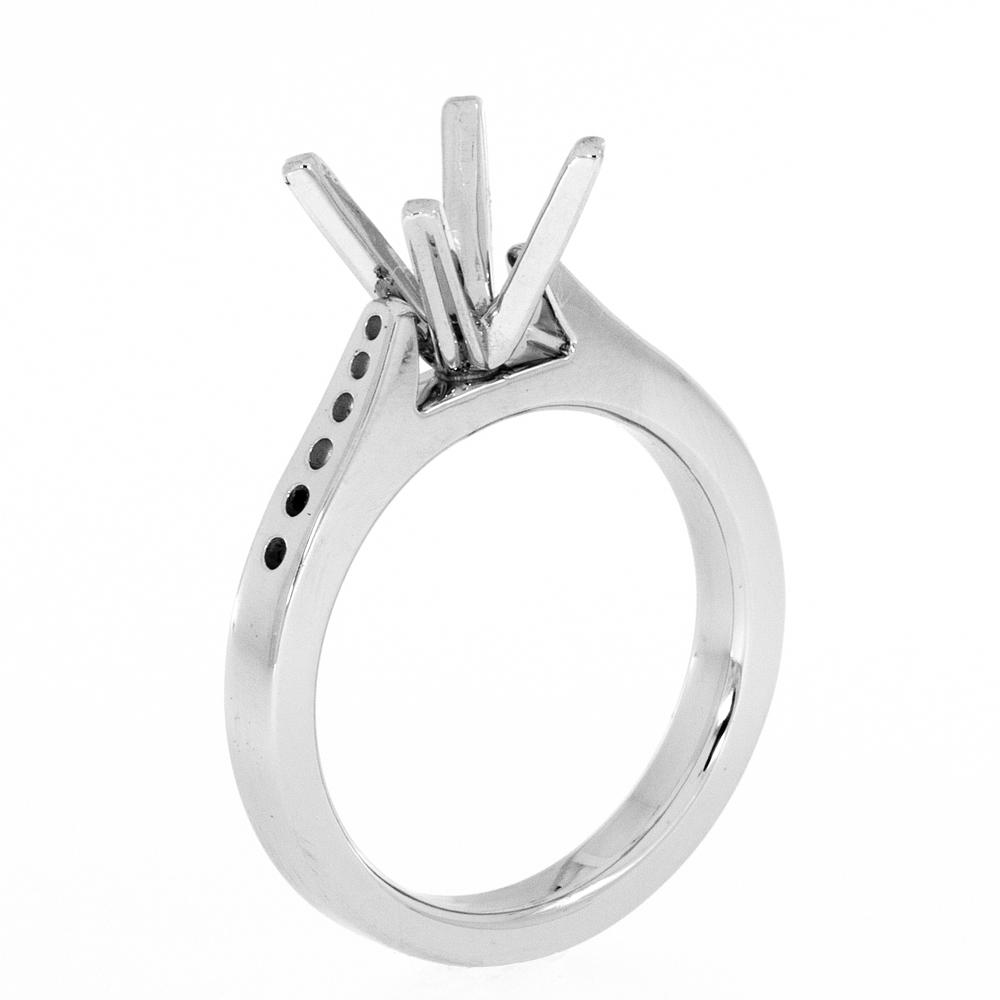 View FOUR PRONG CATHEDRAL SOLITAIRE ENGAGEMENT RING