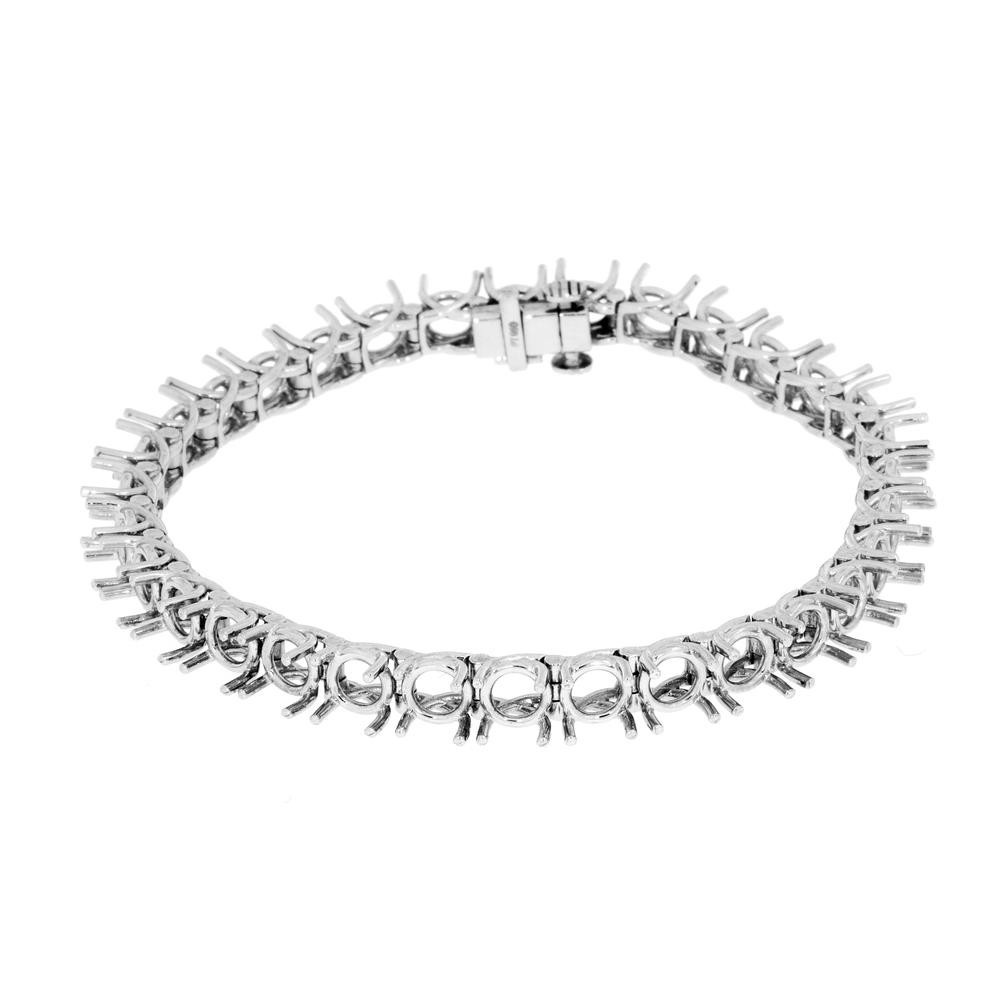 View TRELLIS FOUR PRONG TENNIS BRACELET